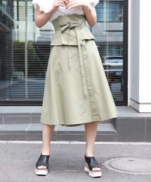 スカート コルセット付ラップフレアスカート ZOZOTOWN PayPayモール店