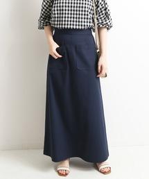 スカート ハイツイストコットンAラインスカート【ウエストゴム/手洗い可能】◆|ZOZOTOWN PayPayモール店