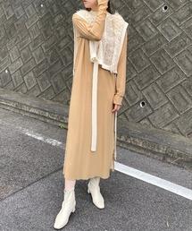 ワンピース ファッションインフルエンサー RIKA - チュール × ノースリワンピース made in INTER FACTORY ZOZOTOWN PayPayモール店