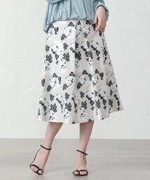 スカート リネンミックスフラワージャカードスカート|ZOZOTOWN PayPayモール店