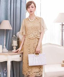 ドレス セットアップ風デザインフリルスリーブレースドレス|ZOZOTOWN PayPayモール店