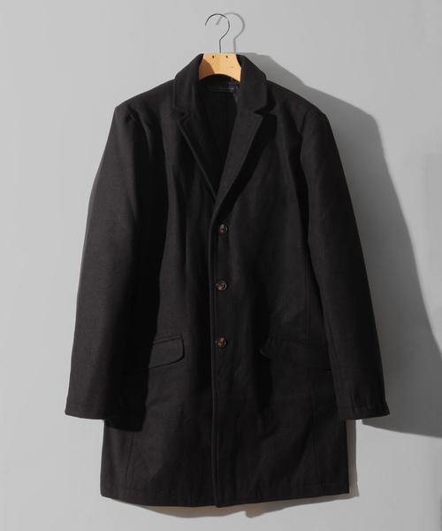 コート チェスターコート BURNER 3つボタン お歳暮 SELECT メルトン 発売モデル