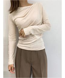 tシャツ Tシャツ Design neck soft top / デザインネックソフトトップス|ZOZOTOWN PayPayモール店