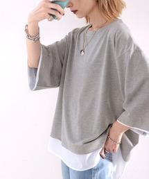 tシャツ Tシャツ レイヤード風 ミドル丈・無地クルーネックTシャツ(半袖)|ZOZOTOWN PayPayモール店