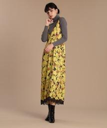 ワンピース ジャンパースカート 《Luftrobe》フラワープリントジャンパースカート 《Viscotecs》 ZOZOTOWN PayPayモール店