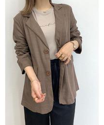 ジャケット テーラードジャケット Linen tailored jacket / リネンテーラードジャケット|ZOZOTOWN PayPayモール店