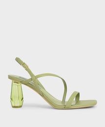 サンダル シースルー スカルプチャーヒールサンダル / See-Through Sculptural Heel Sandals|ZOZOTOWN PayPayモール店