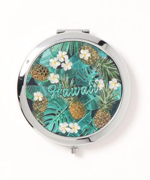 鏡 ミラー Kahiko 贈呈 Hawaiian (人気激安) メタルハンドミラー