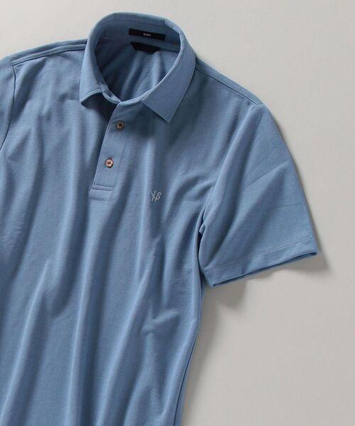 ポロシャツ アイテム勢ぞろい WEB限定 SHIPS: 吸水速乾 男女兼用 UVケア Drymix ロゴ レギュラーカラー ワンポイント R