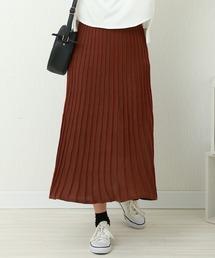 スカート 12Gストライプニットプリーツスカート|ZOZOTOWN PayPayモール店