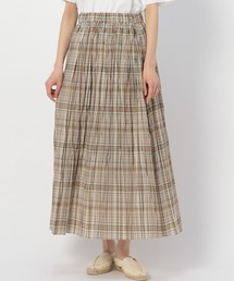 スカート 【LE GLAZIK】ローンチェックプリーツスカート WOMEN ZOZOTOWN PayPayモール店