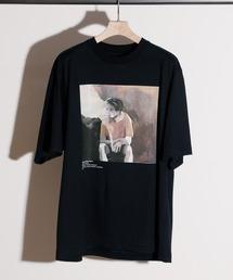 tシャツ Tシャツ JANESMITH ジェーンスミス / YELLOW SMOKE SHORT SLEEVE T-SHIRT アーティストコラボプリ|ZOZOTOWN PayPayモール店