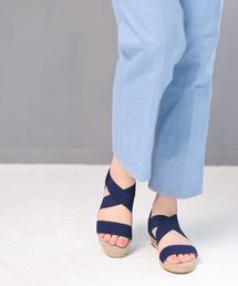サンダル ゴムでフィットするので靴ズレしにくい3.5cmヒールゴムフィットサンダル ZOZOTOWN PayPayモール店