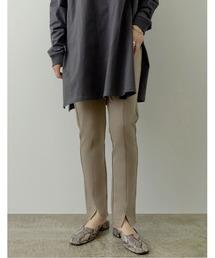 パンツ [低身長/高身長サイズ有][イージーケア]センタースリットストレッチポンチレギンスパンツ|ZOZOTOWN PayPayモール店