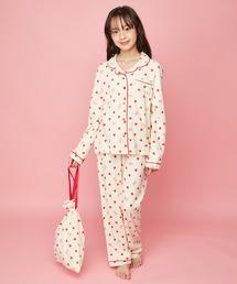 ルームウェア パジャマ 巾着付きハートロゴ総柄ルームウェア|ZOZOTOWN PayPayモール店