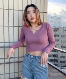 tシャツ Tシャツ リブスリットショートロンT|ZOZOTOWN PayPayモール店