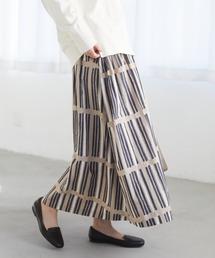 スカート コットンSwagプリントギャザースカート *|ZOZOTOWN PayPayモール店