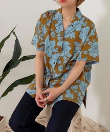tシャツ Tシャツ フラワープリント開襟シャツ|ZOZOTOWN PayPayモール店