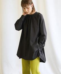 シャツ ブラウス 2021 SS ステッチデザインフロントギャザーシャツ ZOZOTOWN PayPayモール店