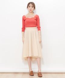 スカート ラメチュールアシメプリーツスカート|ZOZOTOWN PayPayモール店