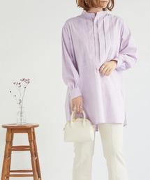 シャツ ブラウス オックスバンドカラータックシャツ|ZOZOTOWN PayPayモール店