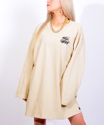 tシャツ Tシャツ 刺繍ロゴオーバーサイズ長袖TOPS|ZOZOTOWN PayPayモール店