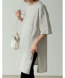 tシャツ Tシャツ USAコットン半袖サイドスリットオーバーサイズTシャツ|ZOZOTOWN PayPayモール店