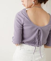 tシャツ Tシャツ パット付きレースアップメロウテレコT|ZOZOTOWN PayPayモール店