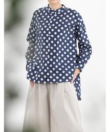 シャツ ブラウス Polkaスモールカラーオーバーサイズシャツ|ZOZOTOWN PayPayモール店