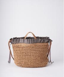 トートバッグ バッグ フリル手編み 2WAYバッグ|ZOZOTOWN PayPayモール店
