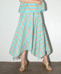 スカート インポートボーダーラッフルヘムスカート ZOZOTOWN PayPayモール店