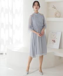 ドレス ミニ丈&七分袖フォーマルエアリーシフォン結婚式ワンピースドレス|ZOZOTOWN PayPayモール店