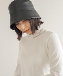 帽子 ハット フェイクレザーバケットハット|ZOZOTOWN PayPayモール店