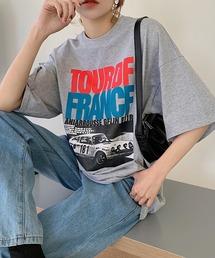 tシャツ Tシャツ CARプリント ルーズラウンドネック Tシャツ|ZOZOTOWN PayPayモール店