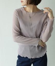 tシャツ Tシャツ インナー付きくしゅくしゅシフォンプルオーバー|ZOZOTOWN PayPayモール店