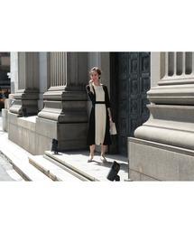 ドレス ダブルカラープリーツミモレ丈のワンピースドレス|ZOZOTOWN PayPayモール店