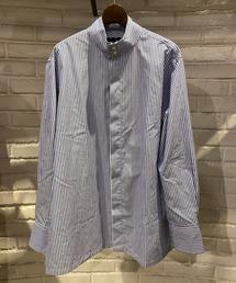 シャツ ブラウス HAVERSACK(ハバーサック) ハイネックストライプドレスシャツ|ZOZOTOWN PayPayモール店