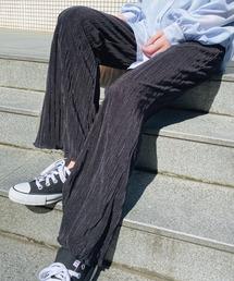 パンツ 【サテンミニプリーツパンツ】ストレッチパンツ / フルレングスパンツ ZOZOTOWN PayPayモール店