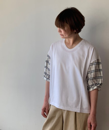 tシャツ Tシャツ ドビーチェック+天竺カットソー|ZOZOTOWN PayPayモール店