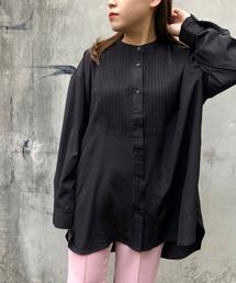 シャツ ブラウス フロントタック入りスタンドカラークラシカルシャツ|ZOZOTOWN PayPayモール店