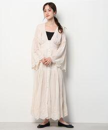 ワンピース SPELL Imogen Embroidered Gown Cream (スペル )(クリーム)(Women's)(ワンピース) ZOZOTOWN PayPayモール店