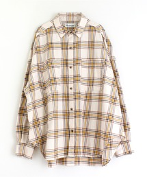 シャツ ブラウス B2583 コットンビエラチェックオーバーシャツ|ZOZOTOWN PayPayモール店