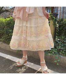 スカート ドットチュール×ローズレーススカート|ZOZOTOWN PayPayモール店