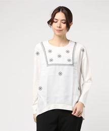 tシャツ Tシャツ 刺繍Uネックプルオーバー|ZOZOTOWN PayPayモール店