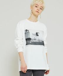 tシャツ Tシャツ 【JANE SMITH(ジェーンスミス)】モノクロフォトロングTシャツ JACK FARDELL WALL RIDE & GRIN|ZOZOTOWN PayPayモール店
