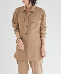 シャツ ブラウス ツイルストレッチステンカラーシャツ|ZOZOTOWN PayPayモール店