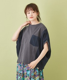 tシャツ Tシャツ WEB限定 シャンブレー × フライス 切替 Tシャツ|ZOZOTOWN PayPayモール店