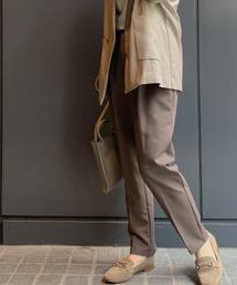 パンツ [新色]美シルエット センタープレステーパードパンツ【大きいサイズ対応】|ZOZOTOWN PayPayモール店