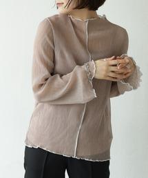 tシャツ Tシャツ インナー付き配色メロウくしゅくしゅシフォンプルオーバー|ZOZOTOWN PayPayモール店