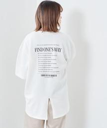 tシャツ Tシャツ バックロゴプリント スリットビッグTee ZOZOTOWN PayPayモール店